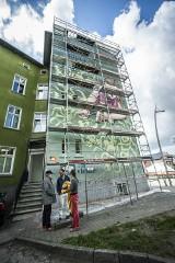 Mural na urodziny TPD w Koszalinie. Tworzy go najlepszy artystyczny team - Anna Waluś i dzieciaki