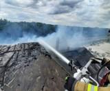 Pożar dachu budynku w pobliżu byłej stacji PKP w Gubinie. W akcji gaśniczej brało udział aż 16 zastępów straży pożarnej