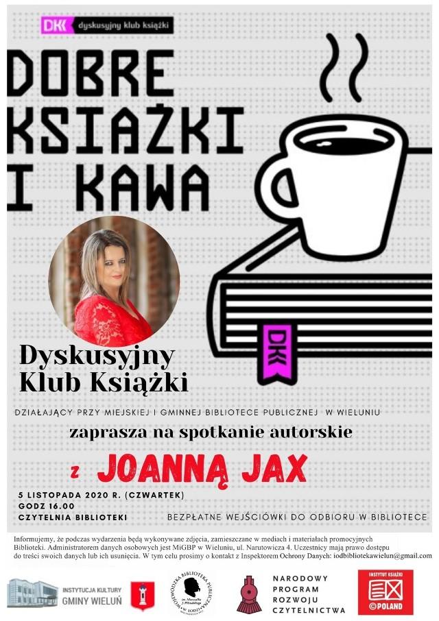 Wieluń. Jutro spotkanie autorskie z Joanną Jax w bibliotece. Będzie relacja live