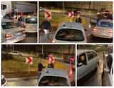 Incydent podczas strajku w Wieluniu. Kierowcy puściły nerwy ZDJĘCIA