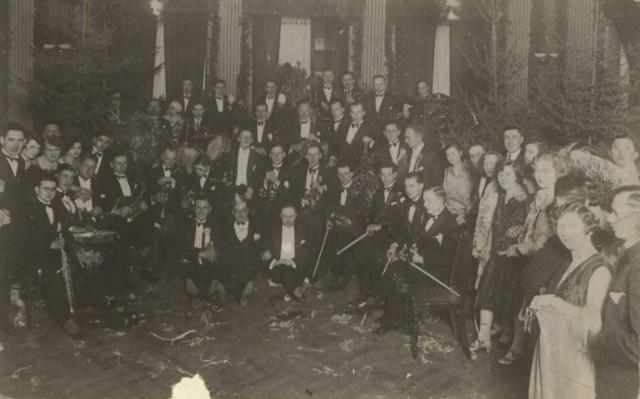 Bal maskowy Bydgoskiego Klubu Wioślarskiego w Bydgoszczy 8 stycznia 1927 r.
