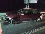 Wypadek na drodze S6 w okolicach Kołobrzegu. Auto uderzyło w bariery [ZDJĘCIA]