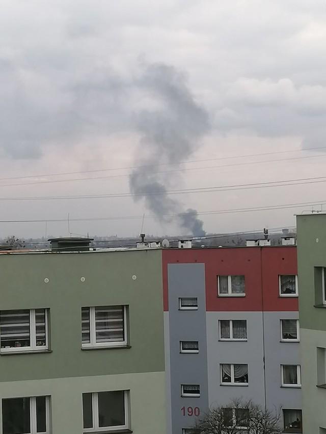 Pożar opon w Bytomiu. Sytuacja jest już opanowana.