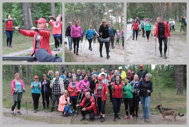 Trening nordic walking nad jeziorem Czarnym we Włocławku