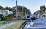 Wypadek w Brzózce koło Krosna Odrzańskiego. Zaraz po zderzeniu auta zapaliły się. Interweniowała straż pożarna