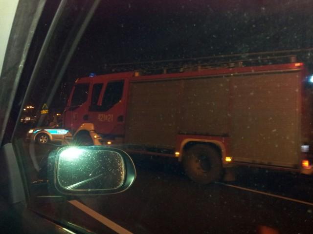 Wypadek na DTŚ w Chorzowie