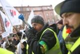 Manifestacja pracowników Zakładów Energetyki Cieplnej w Katowicach [ZDJĘCIA]