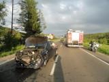 Wypadek na dk 28 w Paszynie. Dziecko i kobieta nie żyją. Pięćaut rozbitych [ZDJĘCIA]