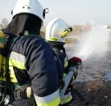 Pożar tartaku w Odolanowie. W akcji wzięło udział niemal 20 zastępów straży pożarnej. Strażacy wzięli udział w ćwiczeniach