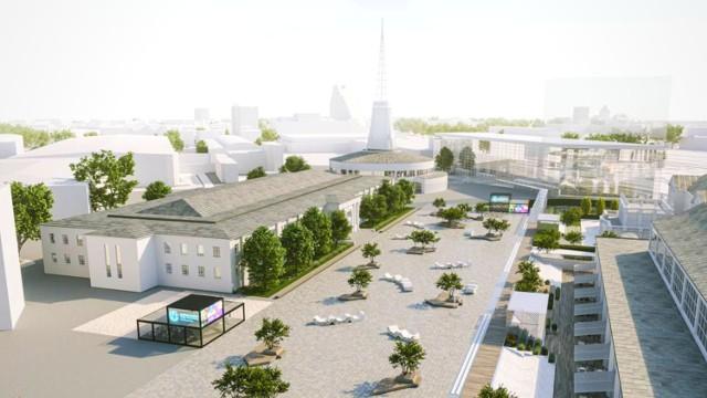 W pierwszym kwartale przyszłego roku rozpocznie się budowa wielopoziomowego podziemnego parkingu na terenie Międzynarodowych Targów Poznańskich. To będzie pierwszy krok ku otwarciu targów na miasto i stworzeniu na ich terenie strefy kultury.  Kolejny slajd-->