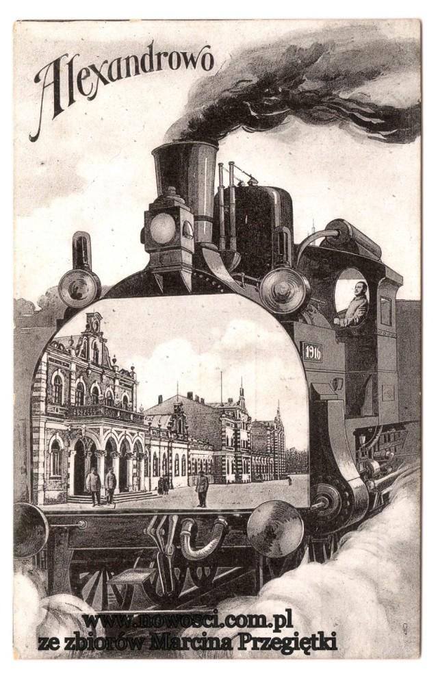 Dworzec tak bardzo spodobał się Niemcom, że podczas I wojny światowej postanowili włączyć Aleksandrów do swojego zaboru, chociaż na wszystkich zajętych przez siebie ziemiach na wschodzie zachowywali rozbiorowe podziały.