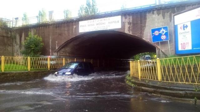 Bywało, że pod wiaduktem i w jego pobliżu była prawdziwa powódź.