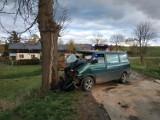 Groźny wypadek w Balewie. Kierowca był nietrzeźwy i bez uprawnień do prowadzenia pojazdów