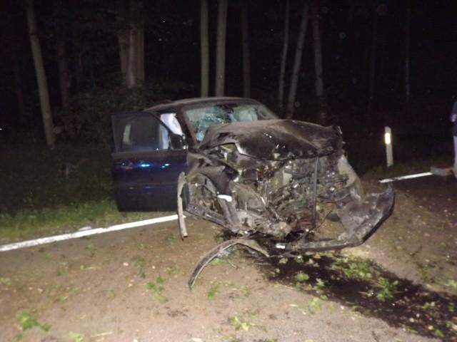 W wypadku w Bratianie w okolicy Nowego Miasta Lubawskiego uczestniczyła jedna osoba podróżująca samochodem osobowym