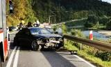 Trzy osobówki zderzyły się na drodze w dolinie Popradu