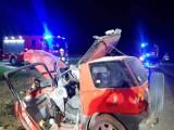 Wypadek w Świętym. 24-letni przemyślanin uderzył w betonowy przepust. Mężczyzna ma zakaz prowadzenia pojazdów! [ZDJĘCIA]