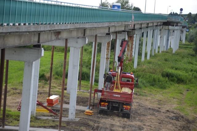 Remont mostu na Wiśle między Ispiną a Nowym Brzeskiem, wakacje 2020