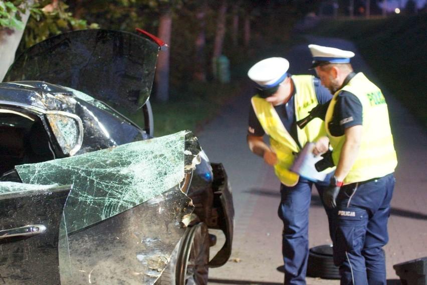 Wypadek z udziałem luksusowego maserati w Kaliszu