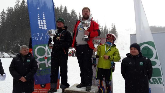 Mistrzostwa Czeladzi w slalomie gigancie na Złotym Groniu w Istebnej