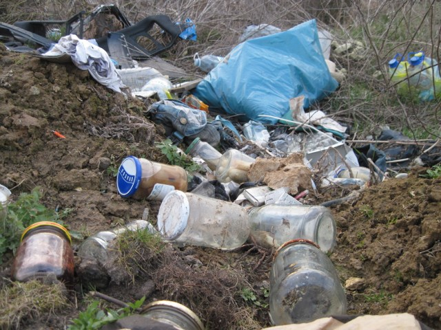 Śmieci na ul. Świetlistej