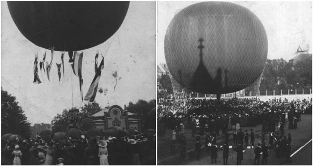 Balon nad miastem? Takie wydarzenie miało miejsce w 1913 roku. Dziś w tym miejscu znajduje się plac Powstańców Wielkopolskich.
