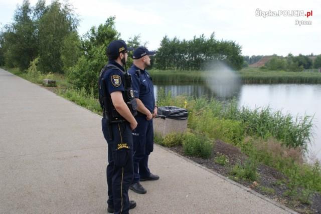 """Ruszyły tzw. """"wakacyjne patrole"""" nad bytomskimi zbiornikami wodnymi."""