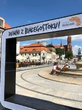 Ramka Dumni z Białegostoku znowu jest na Rynku Kościuszki. Zastąpiła napis #Białystok (zdjecia)