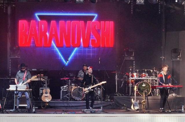 Podczas koncertu na zakończenie Dni Inowrocławia w Teatrze Letnim wystąpił Baranovski