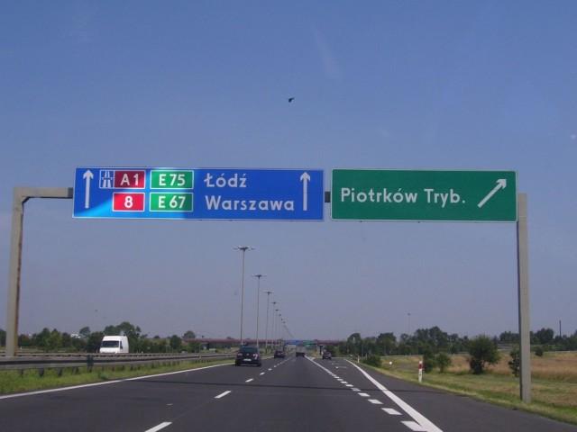 Fragment autostrady A1.