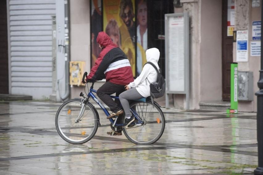 - Naruszenia przez kierującego rowerem obowiązku przewożenia...
