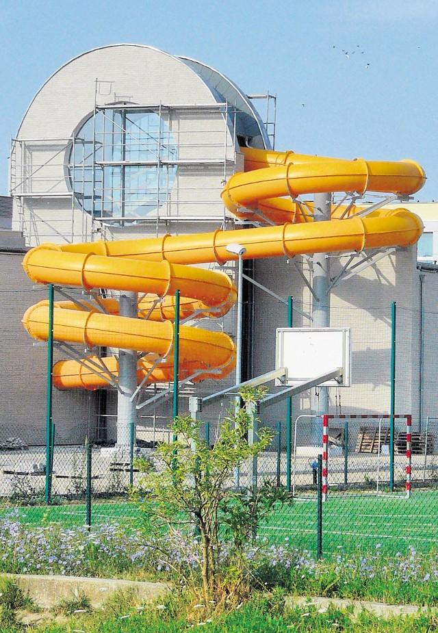 Atrakcją nowego basenu będzie duża zjeżdżalnia