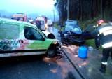 Groźny wypadek w Piwnicznej. Sześć osób zabrano do szpitala