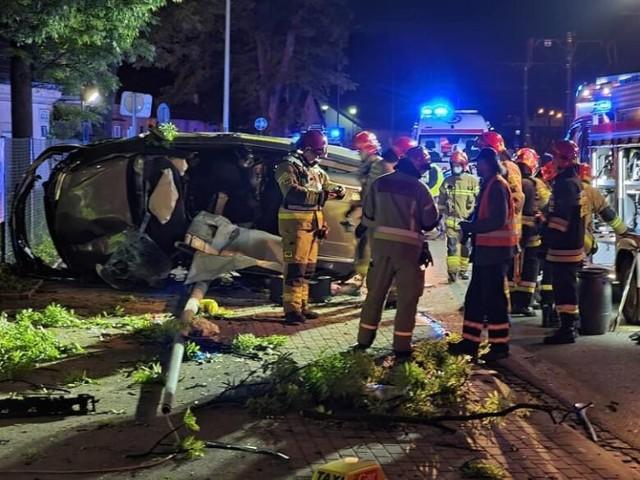 Wypadek na ul. Mogilskiej w Krakowie
