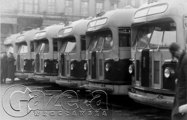 Takie autobusy jeździły kiedyś po Wrocławiu