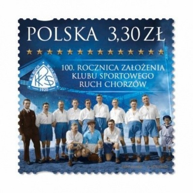Ruch Chorzów wygrał w plebiscycie na najładniejszego znaczku Poczty Polskiej. Co zadecydowało o wygranej popularnego klubu piłkarskiego?