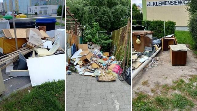 Porozrzucane odpady przy śmietnikach to w Koszalinie - niestety - dość częsty widok