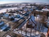 Biała pod Wieluniem z lotu ptaka. Zobaczcie jak prezentuje się na zdjęciach z drona