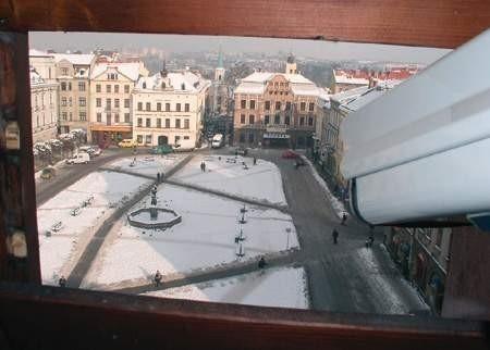 Kamera zamontowana w wieży Ratusza ma m.in. pomóc w promocji Cieszyna.  wojciech trzcionka