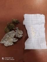 W Pińczowie policjanci znaleźli susz i proszek przy notowanym za narkotyki