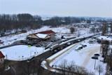 Zima w Łęczycy. Panorama miasta z zamkowej wieży (ZDJĘCIA)
