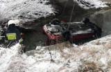 Śnieg na drodze, auto w rzece, kobieta w szpitalu [ZDJECIA]