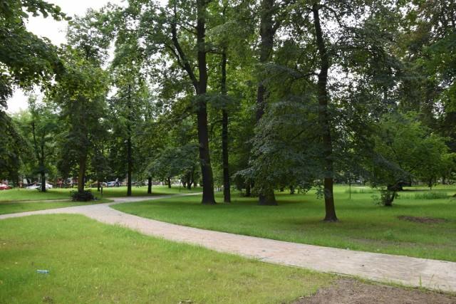 Park Odry pięknieje. Dobiegają końca prace przy rewitalizacji tego miejsca