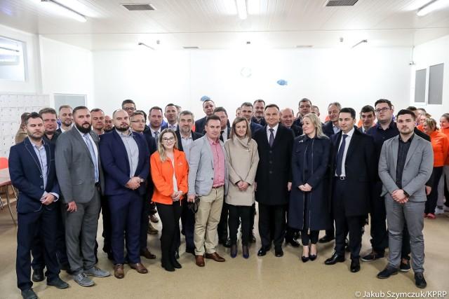W środę do bielskiego Suempolu z krótką wizytą przyjechała para prezydencka.