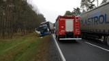 Wypadek na DK nr 10 w Dybowie między Solcem Kujawskim a Toruniem. Zderzyły się dwa tiry [zdjęcia]