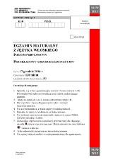 Matura próbna 2015. Język włoski [ODPOWIEDZI, ARKUSZE]