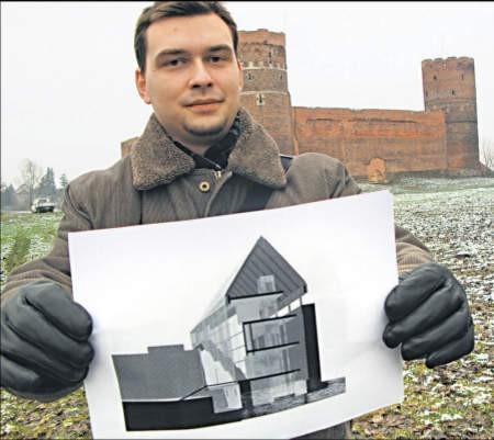 Zdaniem Grzegorza Kęsika hybryda starego z nowym zabiłaby charakter zamku, foto: Edyta Szewczyk