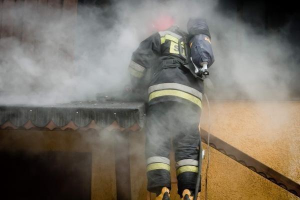 Pożar na Placu Gdańskim w Ciechocinku