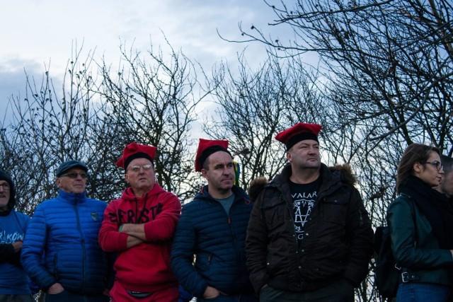 Kibice na meczu Juvenii Kraków z Pogonią Siedlce