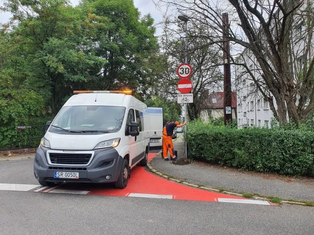 Rybnik Niedobczyce: kontrapas i kontraruch dla rowerzystów