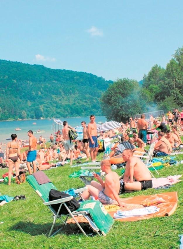 Jezioro Klimkówka to często wybierane miejsce wypoczynku gorliczan